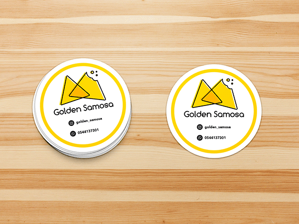 Golden Samosa Logo Branding Design On Behance Branding Design Logo Branding Design Logo Branding