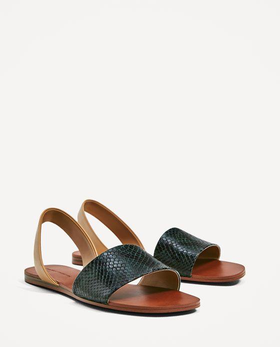 Daim Sandale Plate Sangle Croix - Nouveau Look Tan QY5WSf