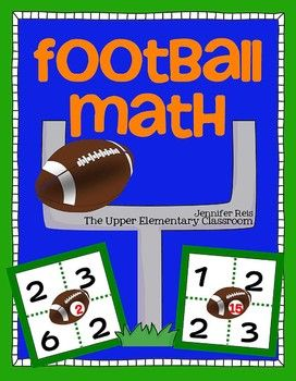 Free Football Math Game Exercise Problem Solving Computation Or Mental Math Football Math Games Math Games Mental Math