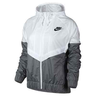 Nike WindRunner Women's Jacket Windbreaker White/Grey 726139-100 Asia Size