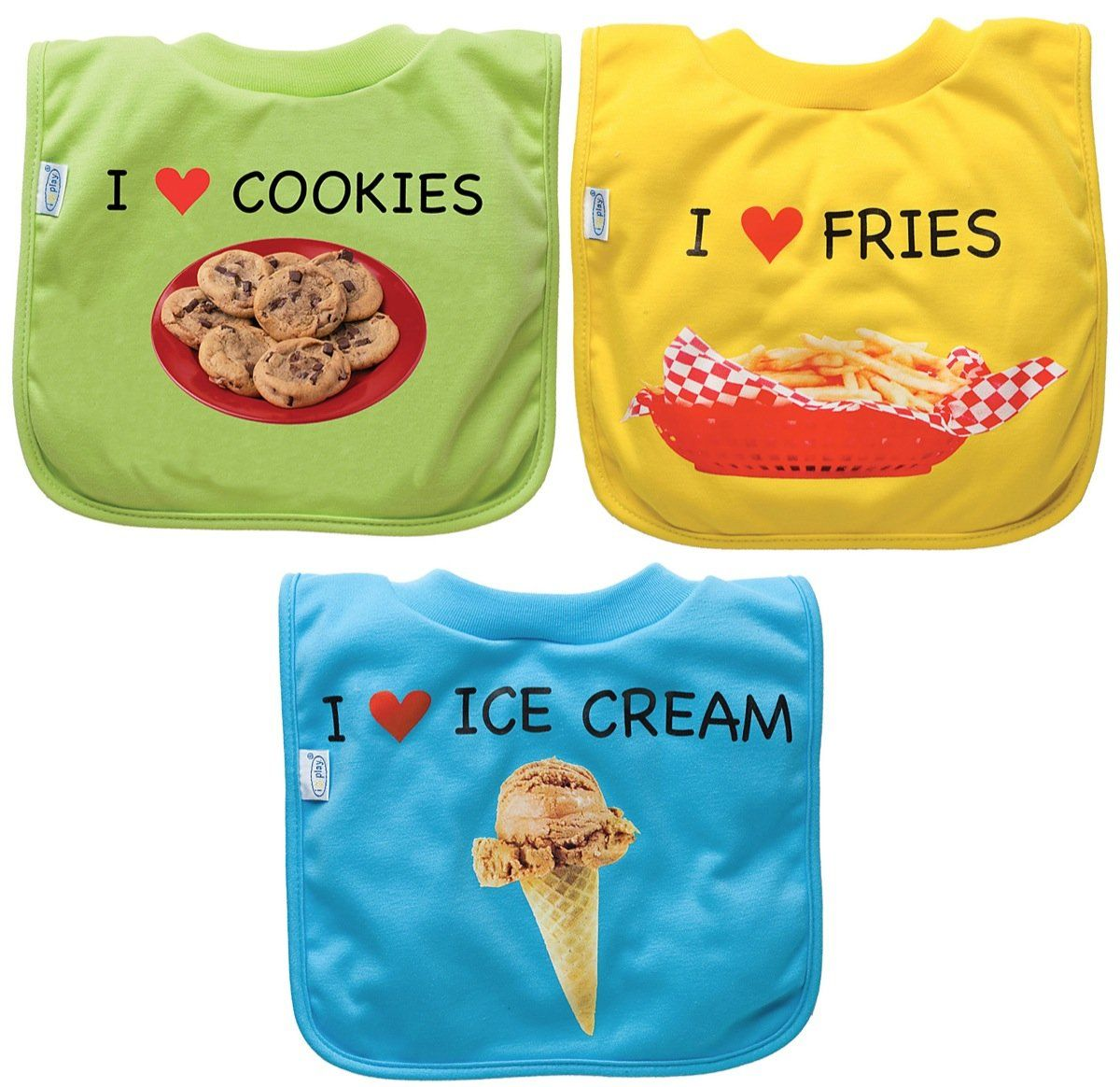 green sprouts by i play Favorite Food Absorbant Bib - Fries/Ice Cream/Cookies