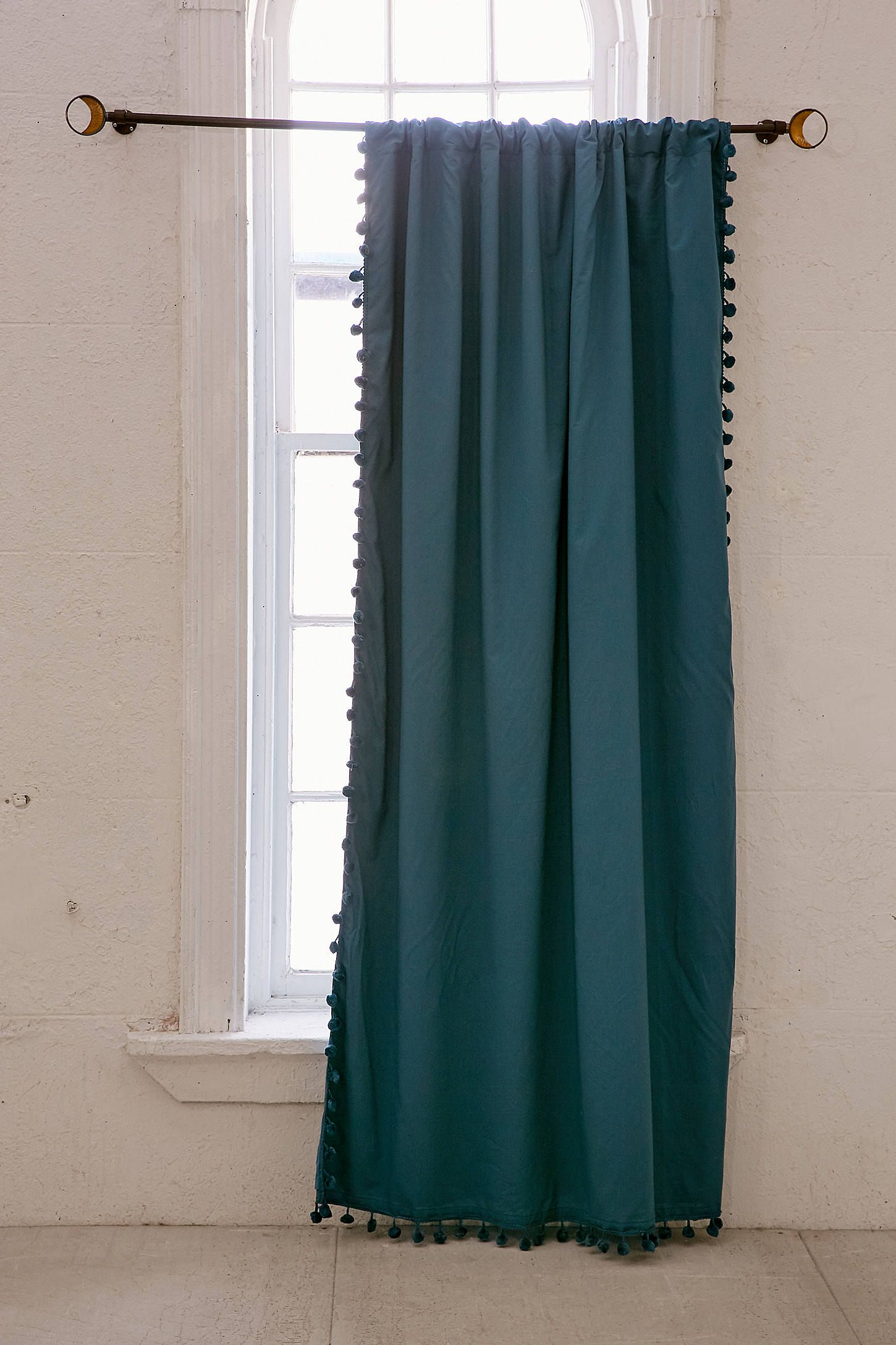 Shop Blackout Pompom Curtain At Urban Outfitters Today We Carry