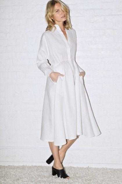 MINIMAL + CLASSIC: White Linen Long Shirt Dress | Datura www.datura.com