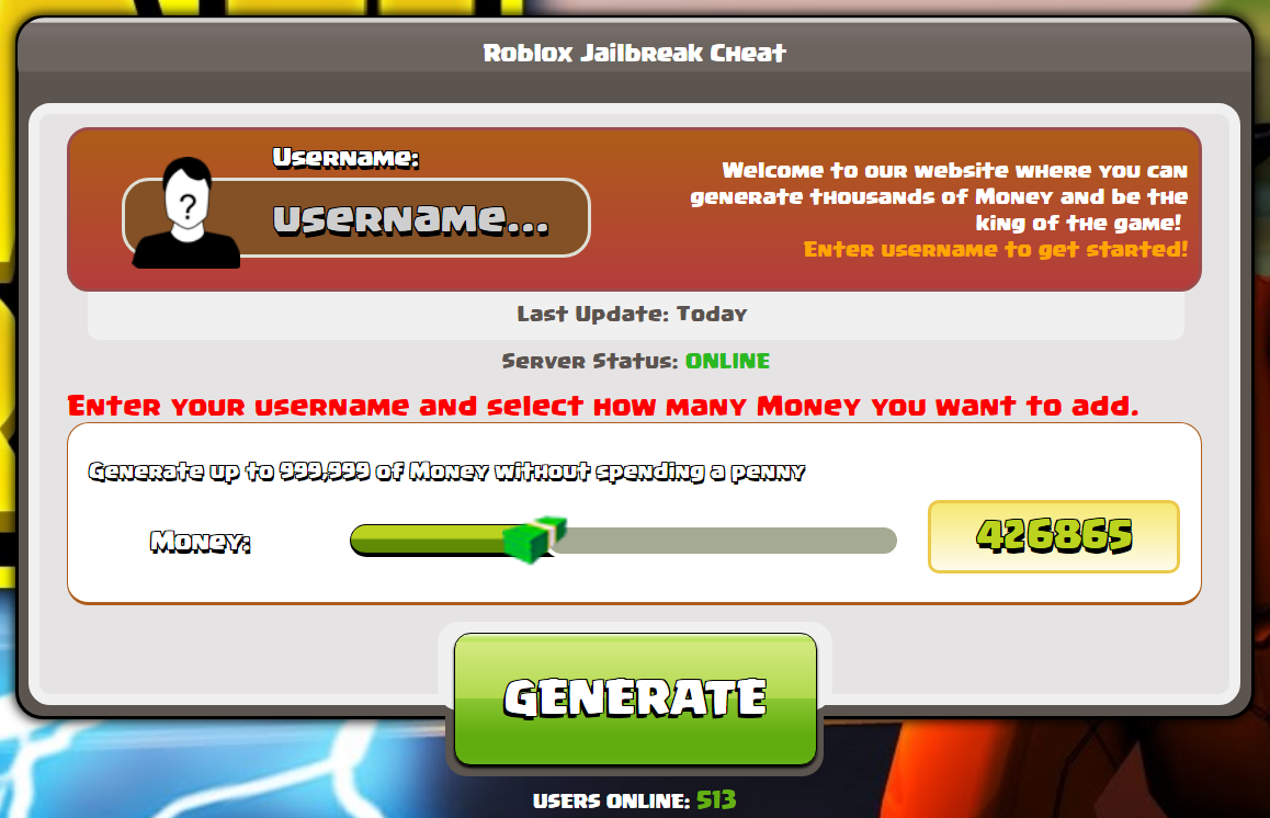 Roblox Jailbreak Money Hack No Human Verification Roblox Jailbreak Hack Unlimited Money 2020 In 2020 Cheating Roblox Roblox Online