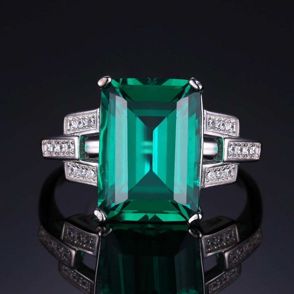 emerald rings differences between the real and synthetic. 5.9ct Emerald Cocktail Ring For Women - Shopolica Shop Online With Confidence | Free Worldwide Shipping Rings Differences Between The Real And Synthetic
