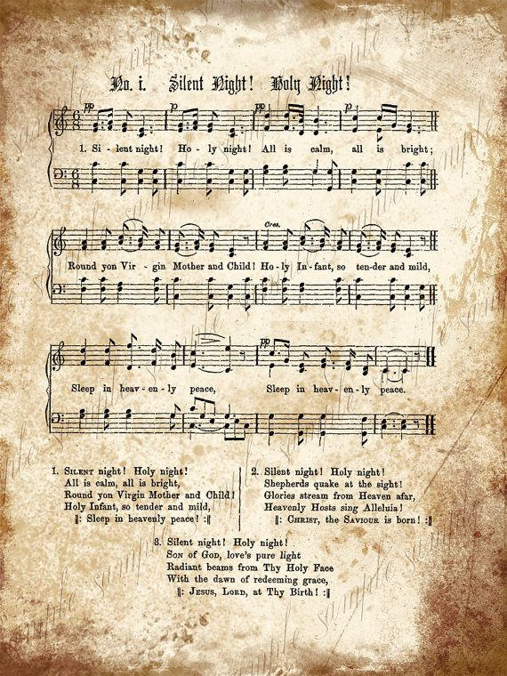 Grungy Aged Vintage Christmas Carol Music by CuriousCrowDigital ...