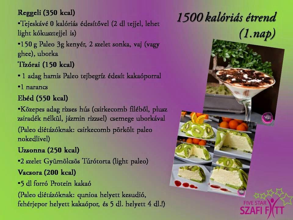 1500 kalória étrend)