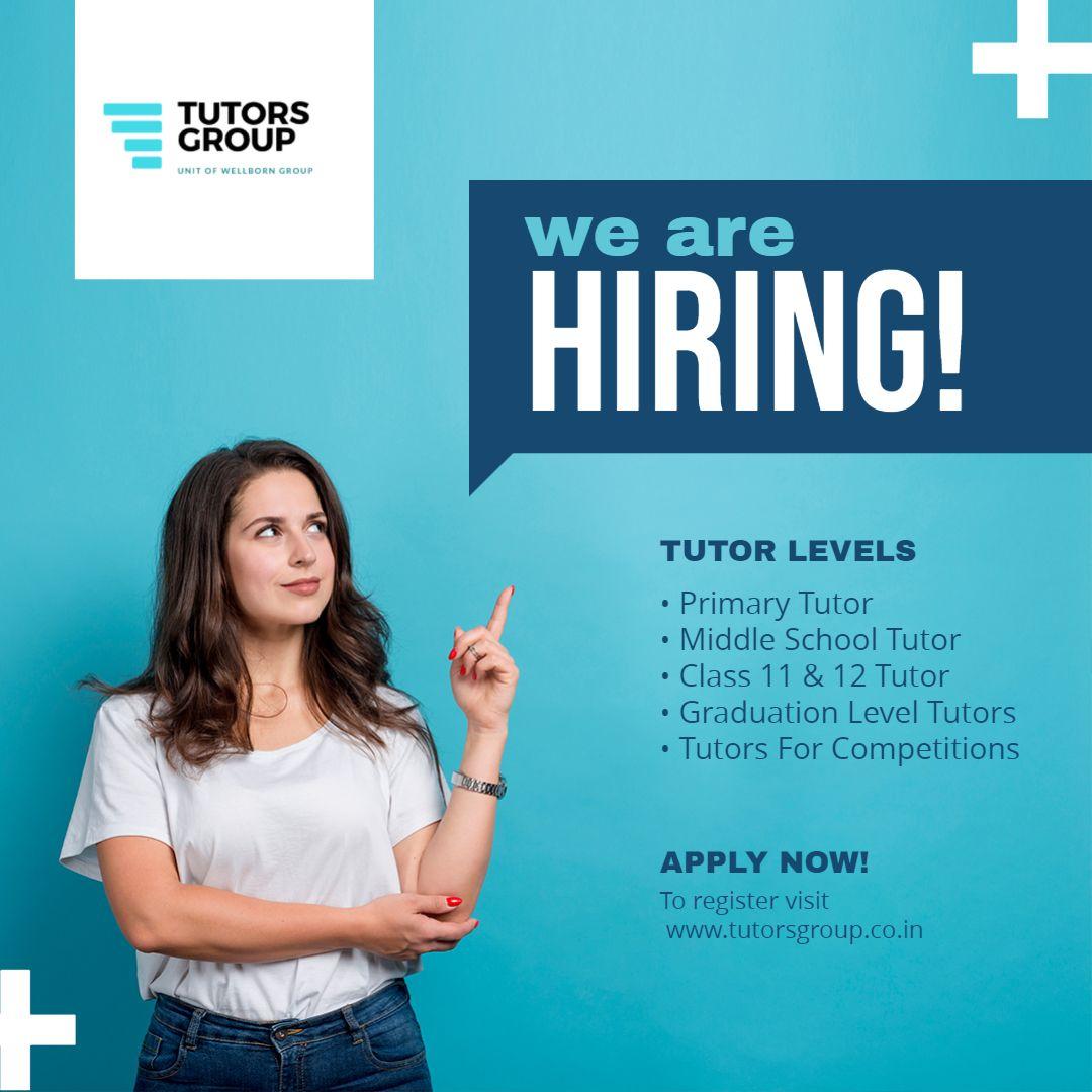 Home Tutor Job in 2020 Hiring poster, We are hiring, Job