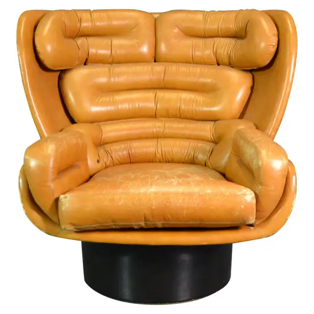 1stdibs Antique And Modern Furniture Jewelry Fashion Art Vintage Lounge Chair Leather Armchair Modern Modern Leather Swivel Chair