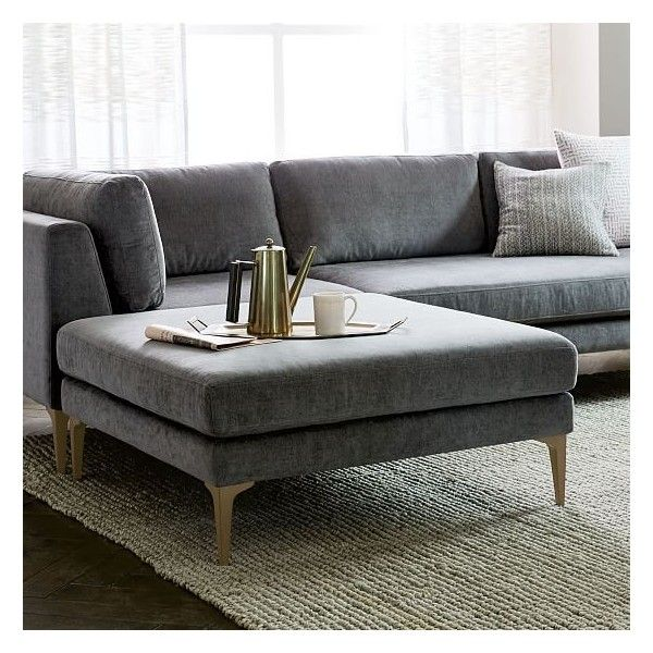 Andes Ottoman   Can Get It With Dark Grey Fabric And Dark Pewter Legs.