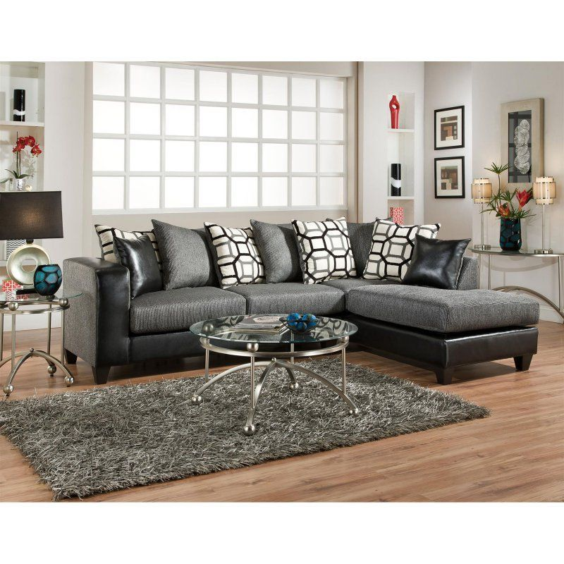 Chelsea Home Furniture Ame Sectional Sofa Object Charcoal Canopy