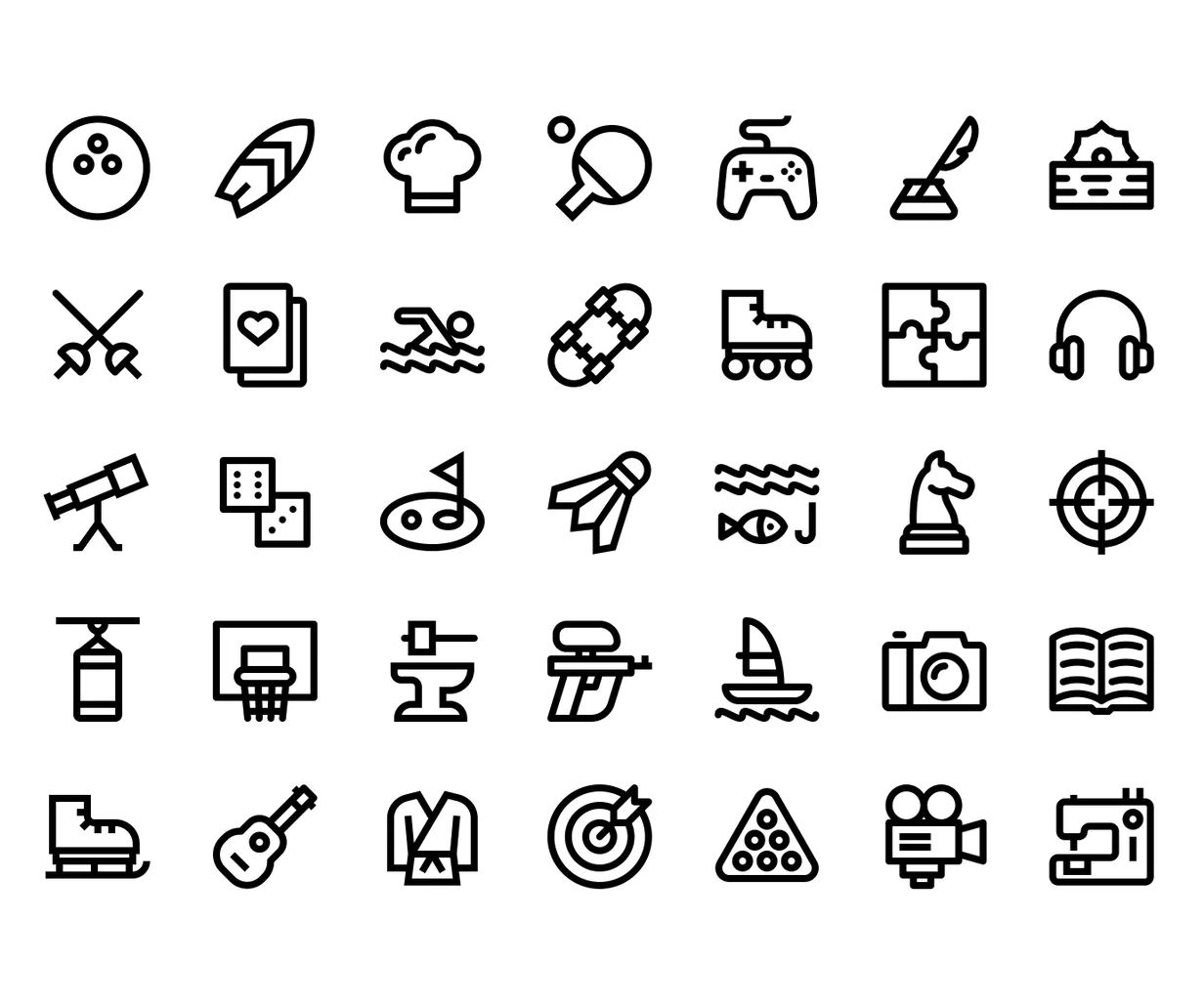 35 Hobby Icons Pack Icon Icon Pack Icon Design