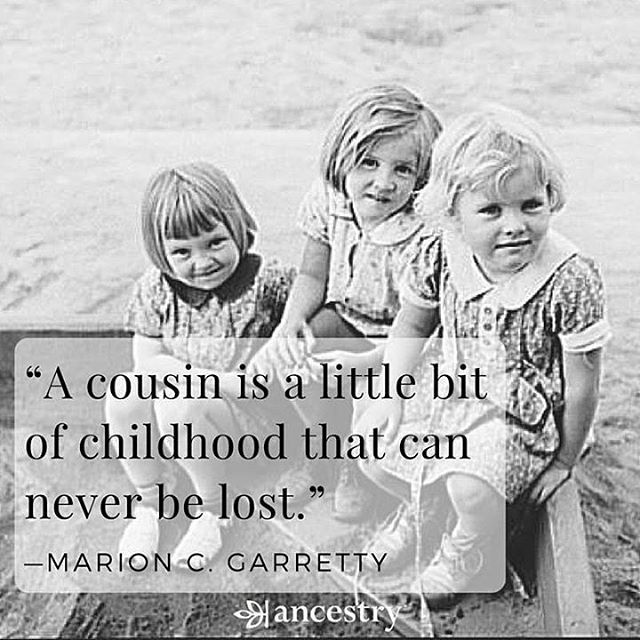 What is a favorite memory you shared with a cousin? #cousins