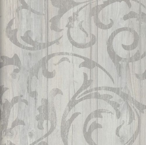 Tapete BN Wallcoverings 49747 Kollektion More Than Elements Vliestapete  Mustertapete Farbe Grau Weiß Größe: Ca X M