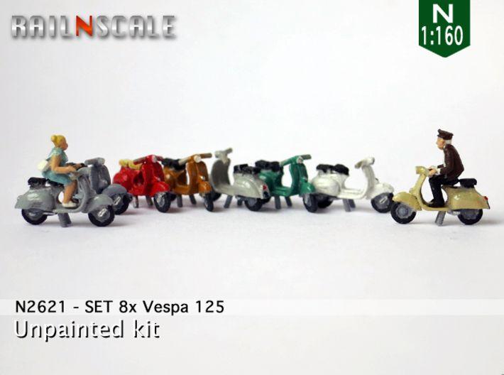Set aus 8 Vespas mit dem 3DDrucker hergestellt und auf