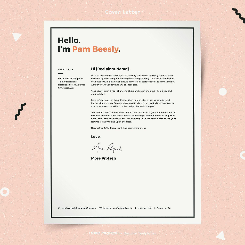 Resume Template CV Kit By More Profesh On @creativemarket