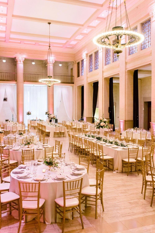 Modern Romantic Indoor Wedding in Blush | Indoor wedding ...