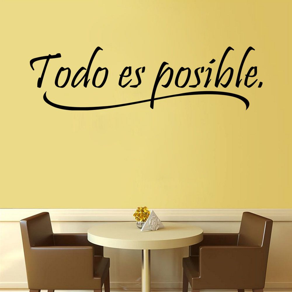 Find More Wall Stickers Information about French todo es posible ...