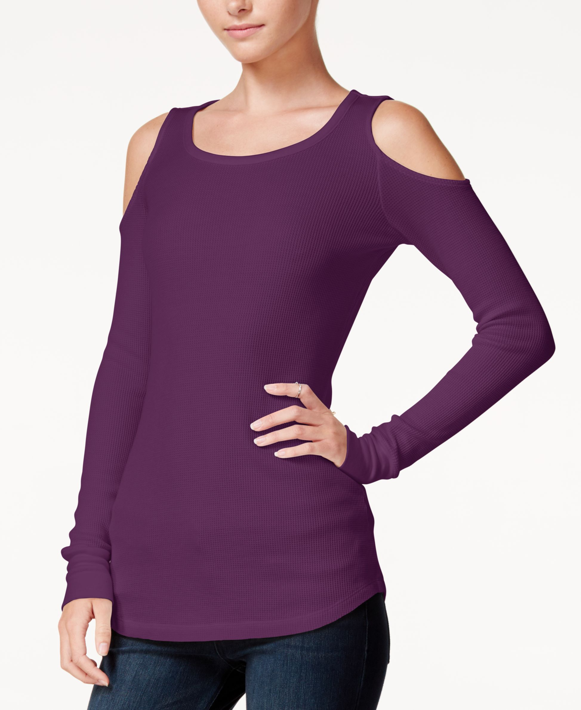 Chelsea Sky Cold-Shoulder Top, Only at Macy's