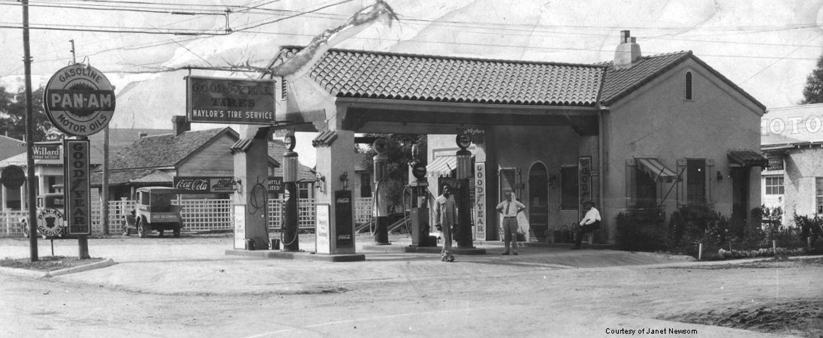 1930 Naylor Service Station, Tallulah, Louisiana Mexico