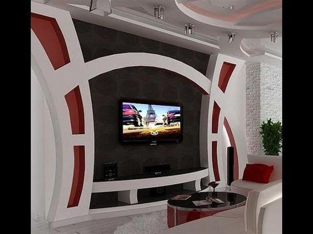Decor Salon 2018 Deco Meuble Tv Deco Meuble Tele Decoration Platre Plafond