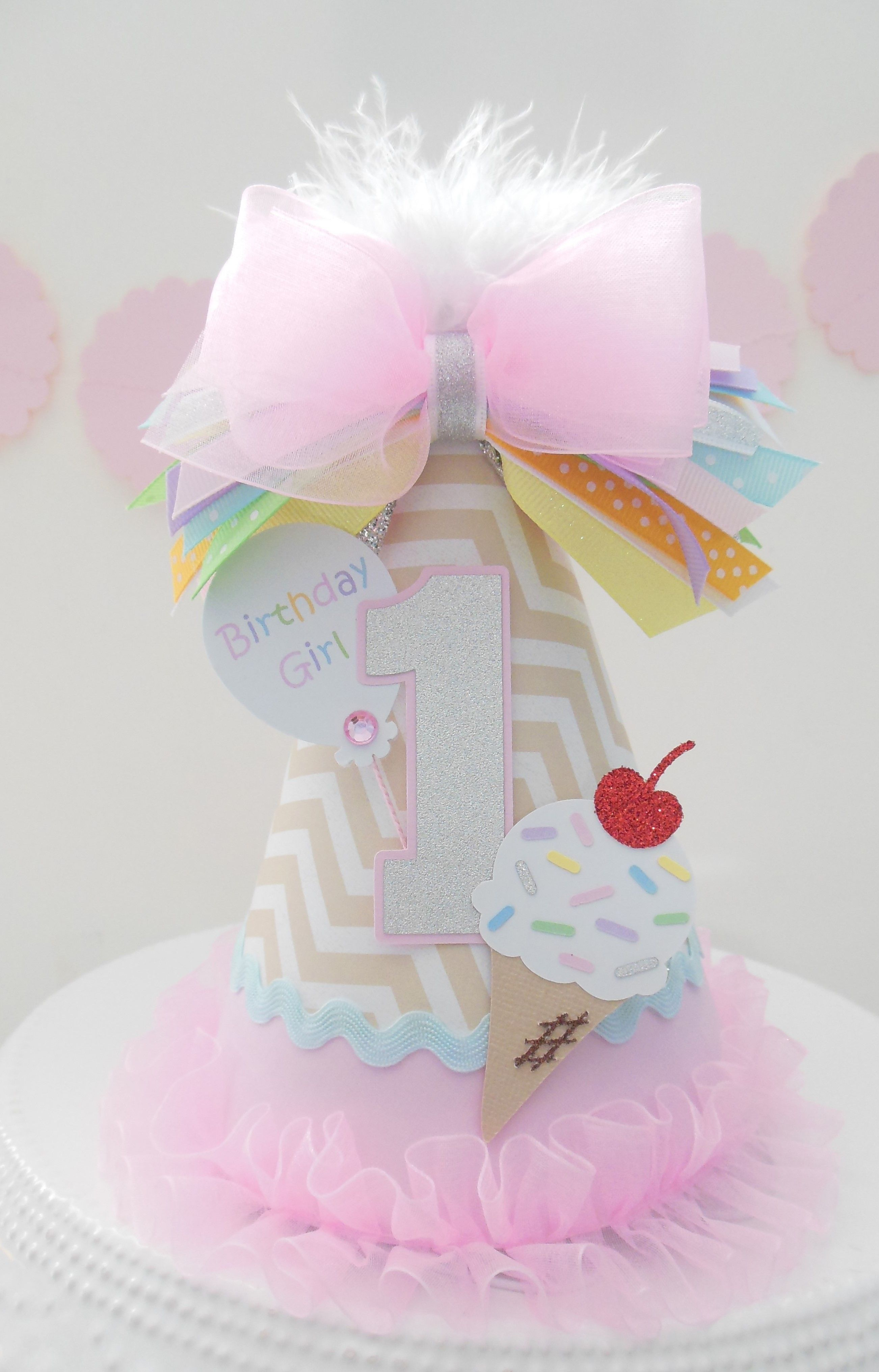 Custom Ice Cream Party Hat From Sandys Specialty Shop On
