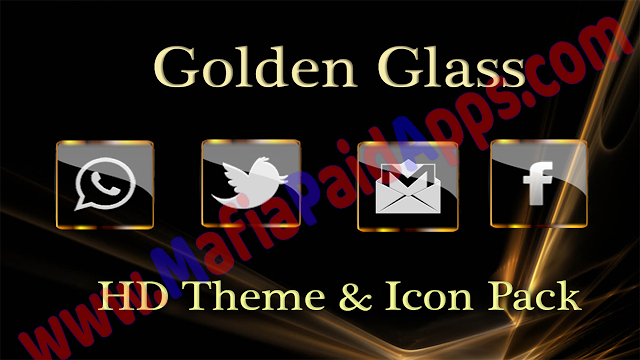 Golden Glass Nova Icon Pack v6.1 Apk for Android Icon