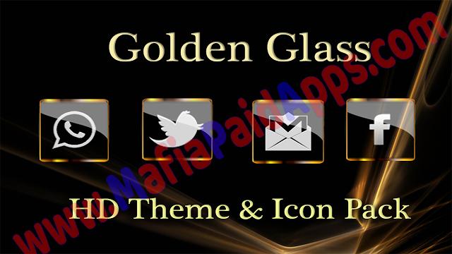 Golden Glass Nova Icon Pack v6.1 Apk for Android Icon
