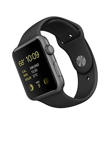 New Apple Watch Series 1 Smartwatch Space Gray Aluminum Case Black Sport Band Sport Band With Stainless Steel Apple Watch Apple Watch Sport New Apple Watch