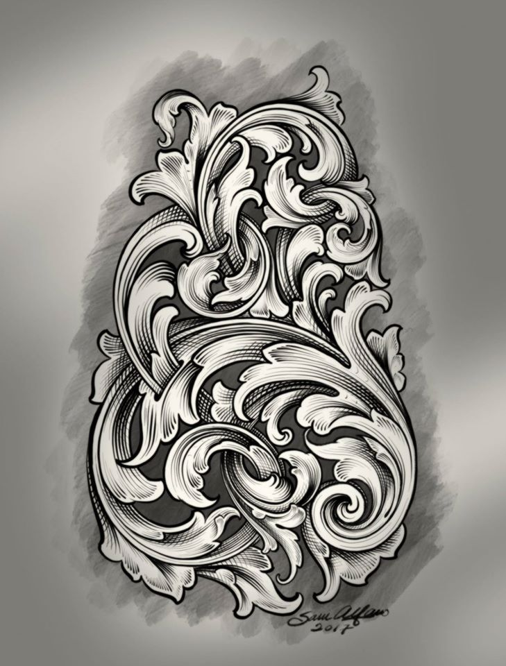 16107442 1409745505722676 2441733459504929217 O Jpg 729 960 Filigree Tattoo Metal Engraving Ornament Drawing,Simple Corner Border Designs For Projects