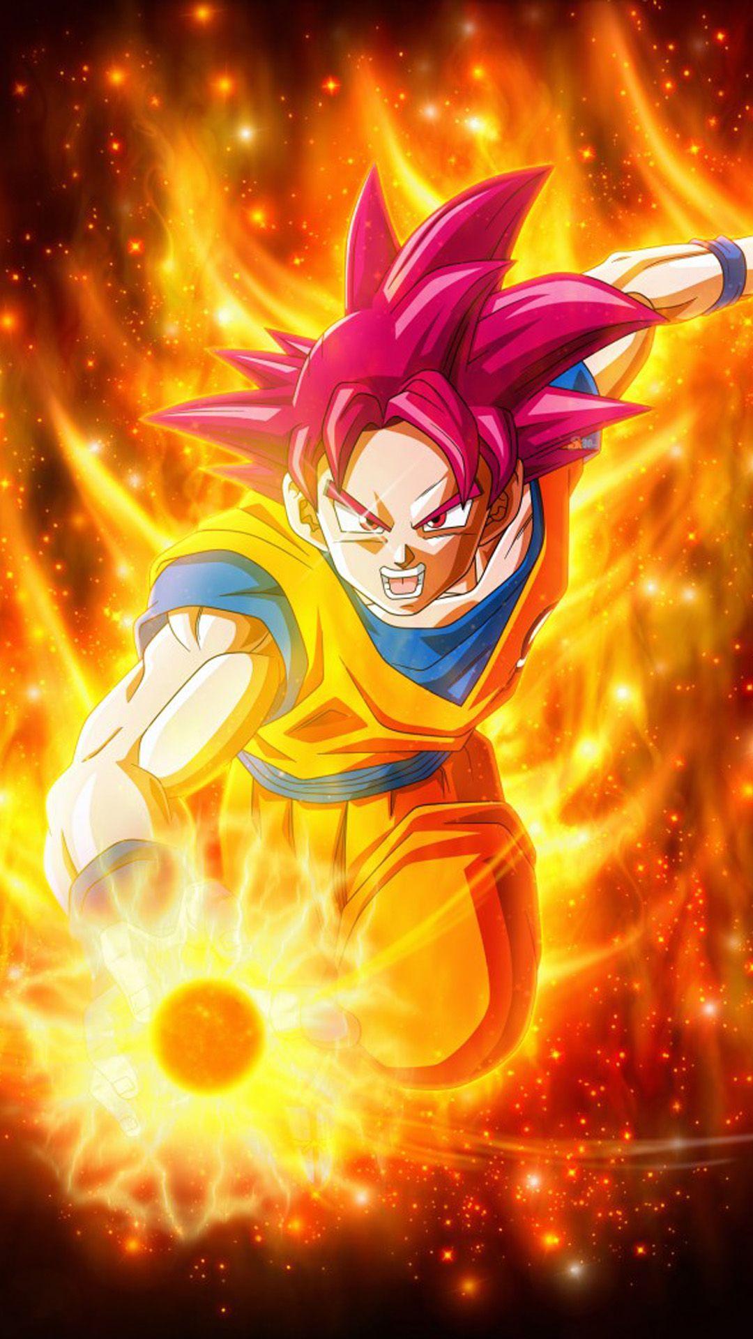 Super Saiyan God In Dragon Ball Super in 2020 Anime