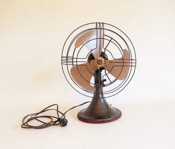 Vintage Electric Fan 1940 S General Electric 2 Speed Vacillating