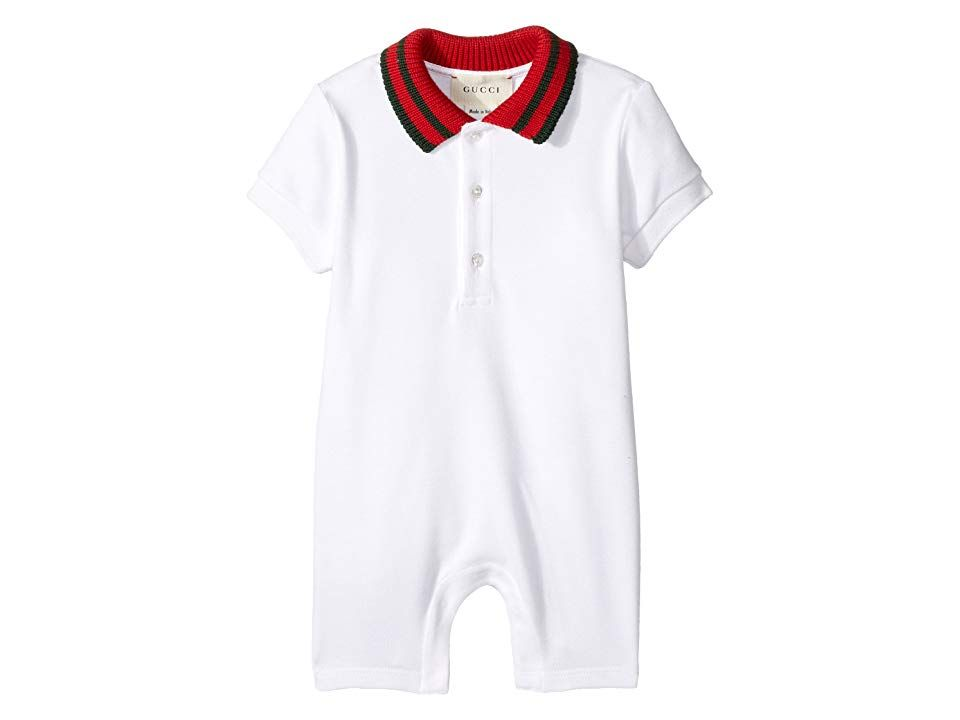 b1720169 Gucci Kids Sleep Suit 463265X5B70 (Infant) (White/Green/Red) Boy's ...