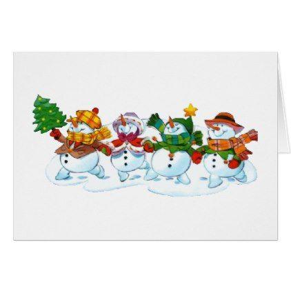 Holiday Snowmen Christmas Card