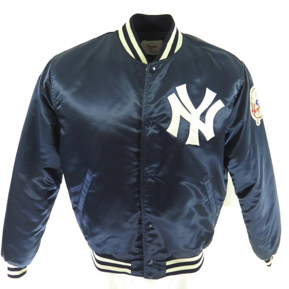 Vintage 80s New York Yankees Starter Jacket Leatherjacketsformenblue Leather Jacket Men Leather Jacket Style Mens Leather Jacket Biker [ 960 x 960 Pixel ]