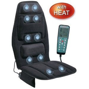 Gifts for truck drivers- cushion with heat and massage. plugs into wall and car outlets $66.00 #trucking