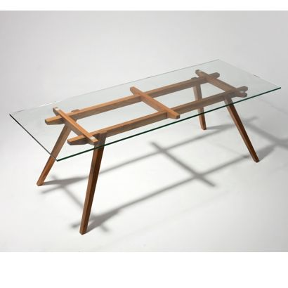 Glass Tables sticotti glass dining table $845.00 table height: 75cm glass top