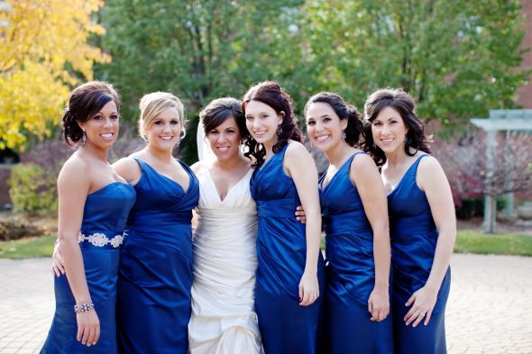 Horizon Blue Bridesmaid Dresses