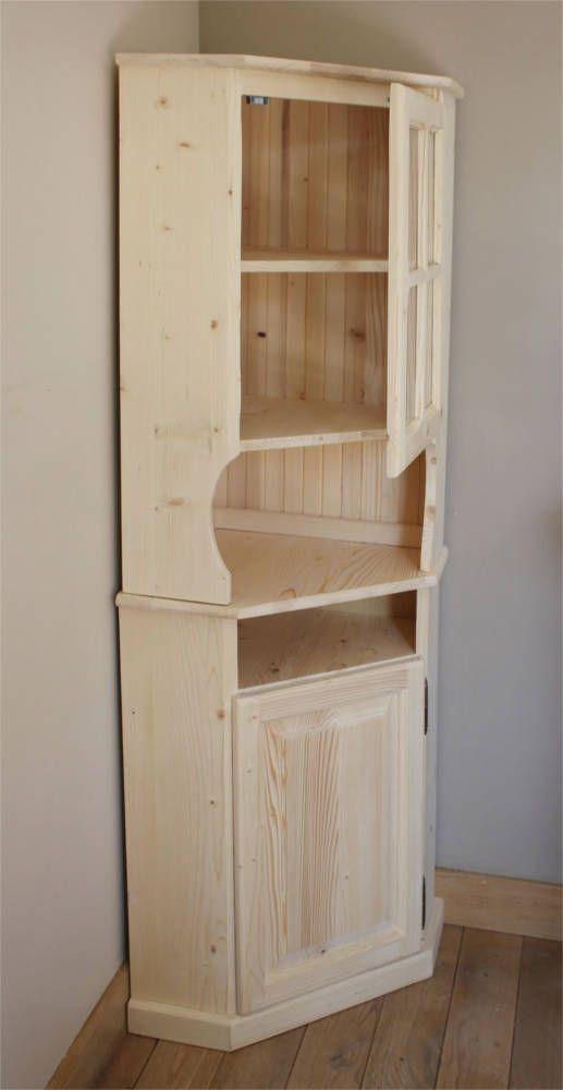 meuble d 39 angle en bois brut katherine 39 s for the home. Black Bedroom Furniture Sets. Home Design Ideas