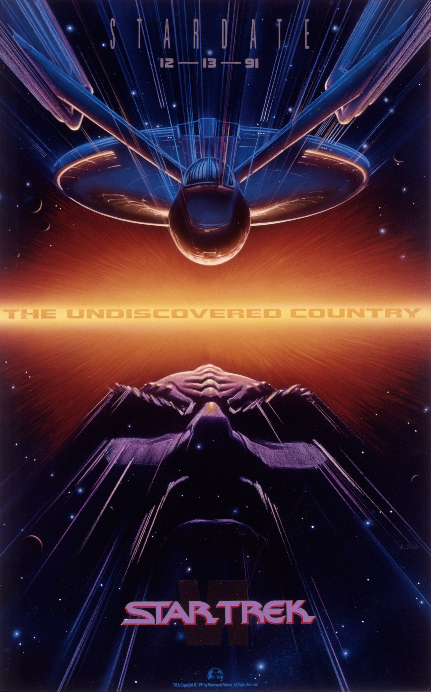 The Man Behind the Most Iconic Movie Posters of the '80s and '90s | Poster art for Star Trek VI: The Undiscovered Country. John Alvin/Paramount | WIRED.com