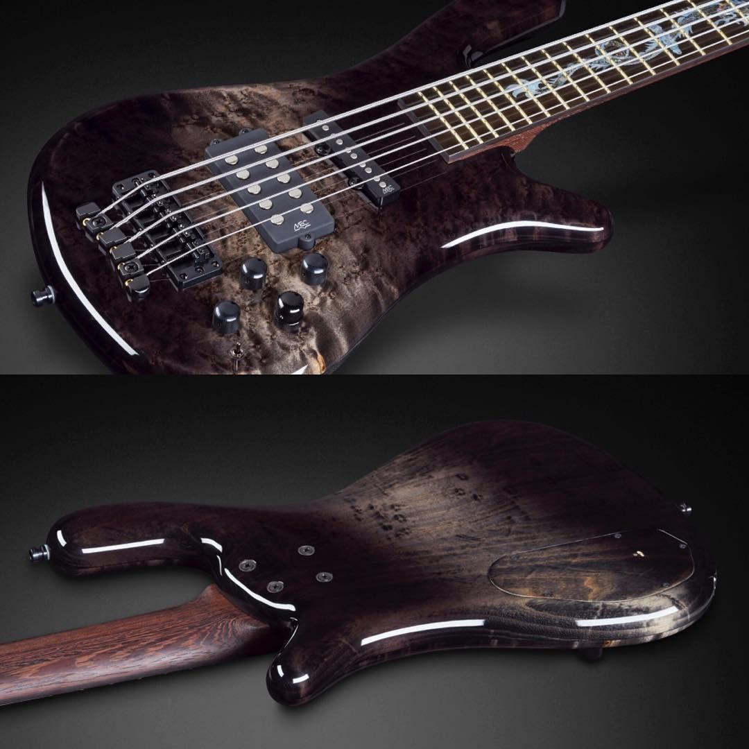 Streamer Jazzman with Birdseye Maple top, US Swamp Ash back, Tigerstripe Ebony fingerboard, single dragon inlay and special nirvana black bleached blackburst finish #warwick #framus #warwickbass #framusguitar #bass #guitar #instrument #music #musician #sound #strings #wood #woodporn #play #player #color #colorful #amps #amplification #acoustic #acousticguitar