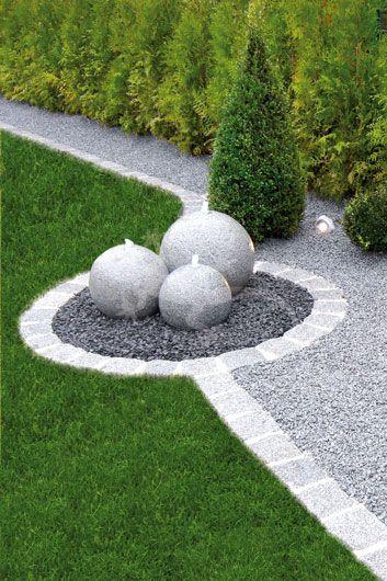 Selber machen durchgehende Löcher vorsehen beim gießen - garten mit steinen dekorieren