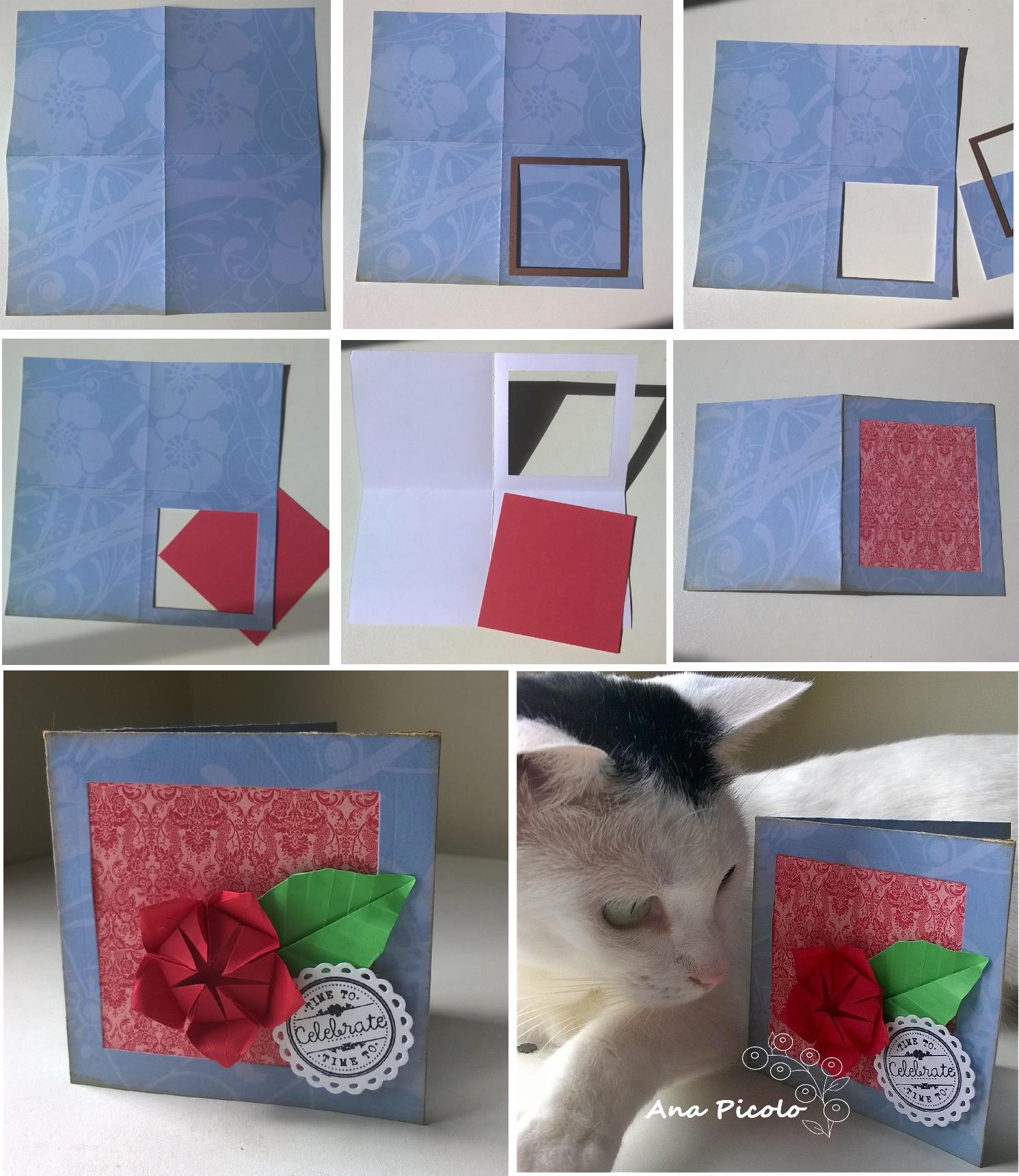 Tutorial Cartão de Origami
