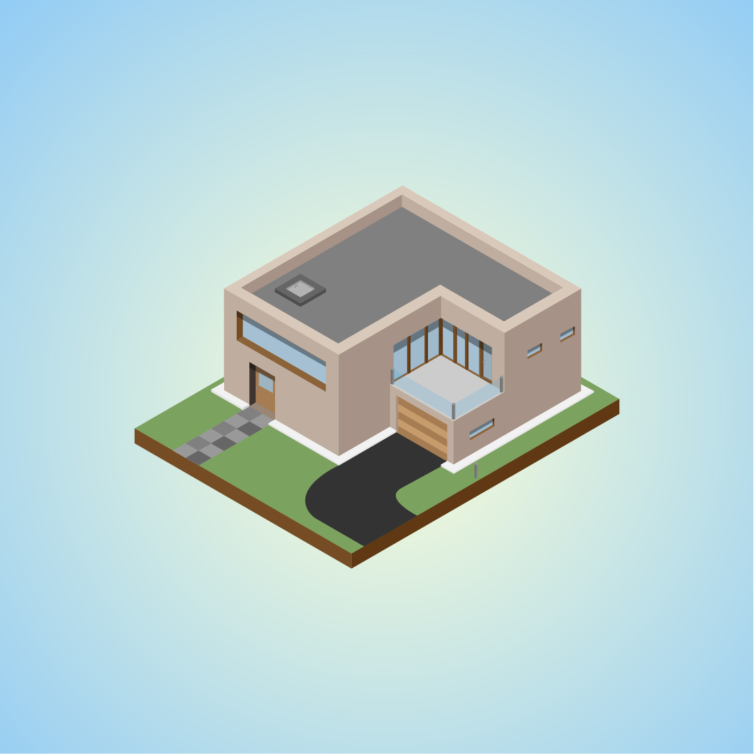 Modern Isometric House Design Vector Artwork Made With