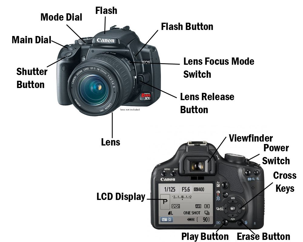 Image result for dslr camera parts diagram