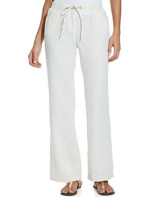 89f87c26deac8 JM Collection Wide-Leg Linen Pants