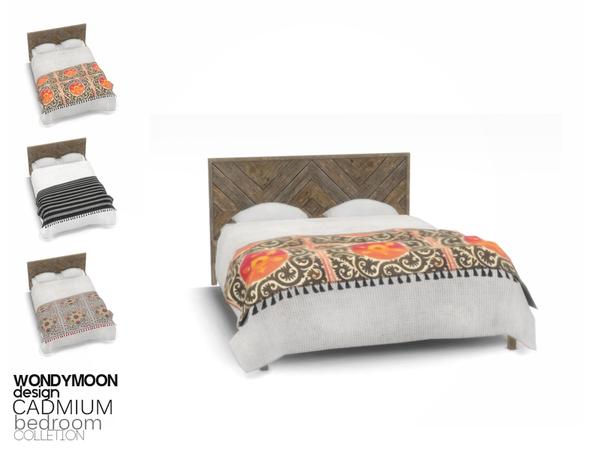wondymoon's Cadmium Bed Blanket, 2020 Sims, Sims 4