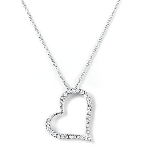 Diamond heart pendant necklace google search wedding jewelry diamond heart pendant necklace google search mozeypictures Images