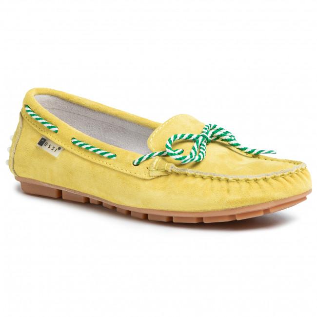 Mokasyny Nessi 18307 Zolty W Mokasyny Polbuty Damskie Eobuwie Pl Loafers Shoes Moccasins