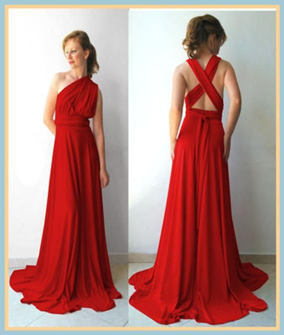 51f4240295d Bridesmaids dress in middle red color floor length dress matching tube top